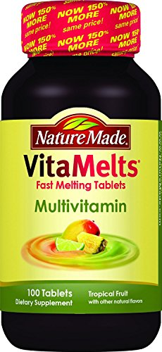 (2 Pack)-Nature Made VitaMelts-MultiVitamin, 100 Fast Melting Tablets, each. Review