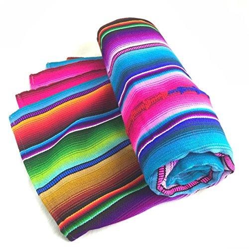 Altiplano Handwoven Rainbow Blanket Throw Yoga Blanket From Guatemala ()