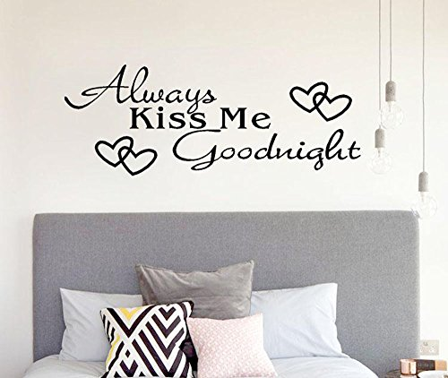 - Hot Sale!DEESEE(TM)Always Kiss Me Goodnight Home Decor Wall Sticker Decal Bedroom Vinyl Art Mural