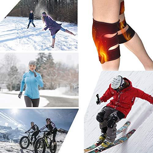 Knee RTDEP Knee Sleeve Heated Knee Pair Men & Women Heat Compress for Relief Relax