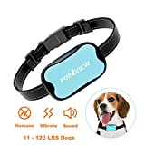 POP VIEW Dog Anti Bark Collar, Small, Medium, Large Dogs, 7 Adjustable Levels with sound and vibration, No Shock, Harmless & Humane, Stops Dogs Barking, Additional Spare Batter