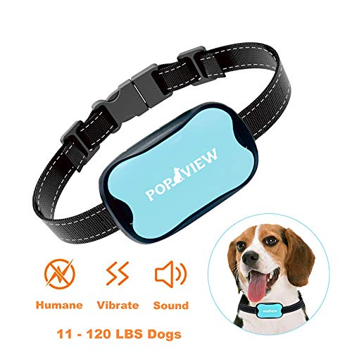 Additional Collar - POP VIEW Dog Anti Bark Collar, Small, Medium, Large Dogs, 7 Adjustable Levels with sound and vibration, No Shock, Harmless & Humane, Stops Dogs Barking, Additional Spare Batter