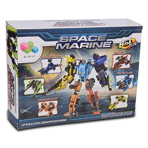 FreeBex Children Building Blocks 2 in 1 fun Space Marine Series Educational Toy Gifts (4in 1 Fun Pack)