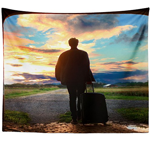 Westlake Art - Wall Hanging Tapestry - Man Shadow - Photography Home Decor Living Room - 26x36in