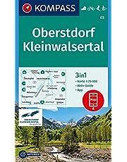 KOMPASS Wanderkarte Oberstdorf, Kleinwalsertal: 3in1 Wanderkarte 1:25000 mit Aktiv Guide inklusive Karte zur offline Verwendung in der KOMPASS-App. ... Langlaufen. (KOMPASS-Wanderkarten, Band 3)