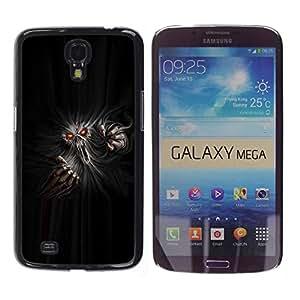 Caucho caso de Shell duro de la cubierta de accesorios de protección BY RAYDREAMMM - Samsung Galaxy Mega 6.3 I9200 SGH-i527 - Monster Ghost Devil Red Eyes Hell Horror