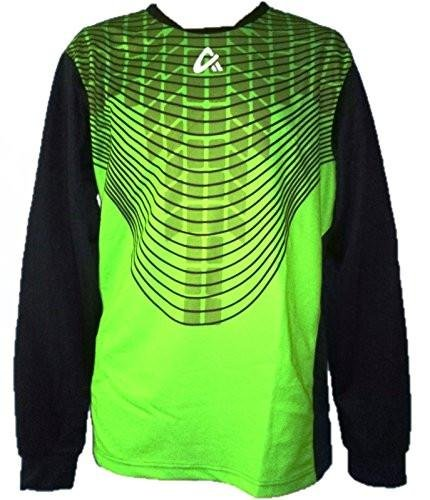 Goalie Stop (United Long Sleeve Soccer Goalkeeper Jersey Flash Green (A X Small) (Youth Large))