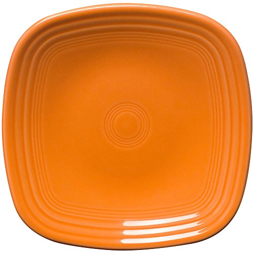 Fiestaware Square Salad Plate - Tangerine Orange