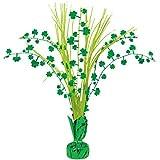"Amscan Lucky Irish Green Saint Patrick's Day Shamrock Spray Centerpiece Party Decoration, Green/Gold, 12"""