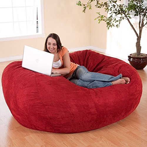 FUF 6 Ft Micro Suede Bean Bag Sofa