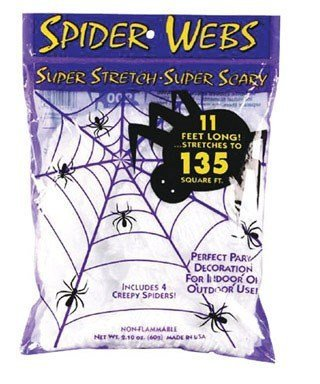 Spooky Halloween Stretch Spider Web]()