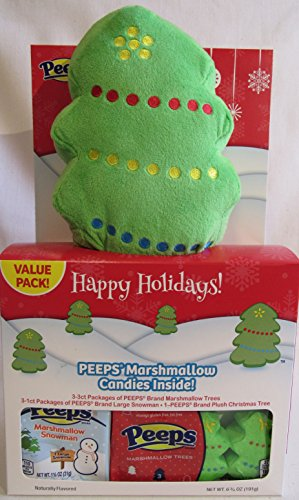 Peeps Christmas Holiday Gift Pack with Plush (Marshmallow