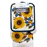 Sunflower 7pc Kitchen Towel Set