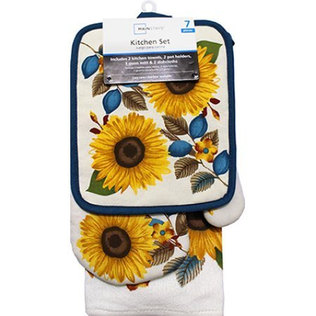 Sunflower 7pc Kitchen Towel Set by Mainstay