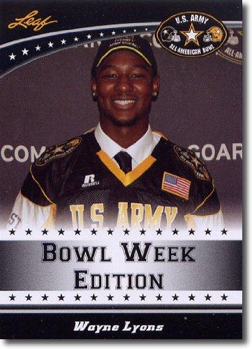 2011 Leaf US Army All-American Bowl Week Edition Prospect Card # East-38 Wayne Lyons DB - STANFORD CARDINAL / Dillard High School (First Football Trading Card / Rookie Card)
