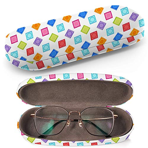 Hard Shell Glasses Protective Case Box + Cleaning Cloth - Fits most Eyeglasses and Sunglasses (Condoms Package)