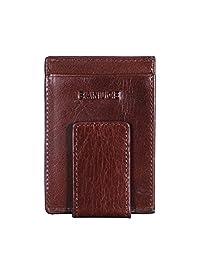 Banuce Genuine Leather Money Clip Magnetic Clip Credit Card Holder Front Pocket Wallet