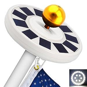 Solar Flag Pole Light-LBell 30 LED Flag Pole Lights Solar Powered Night Light-Flagpole Downlight Lighting for 15 to 25 Ft Top Auto On/Off, Energy Saving LEDs (White)