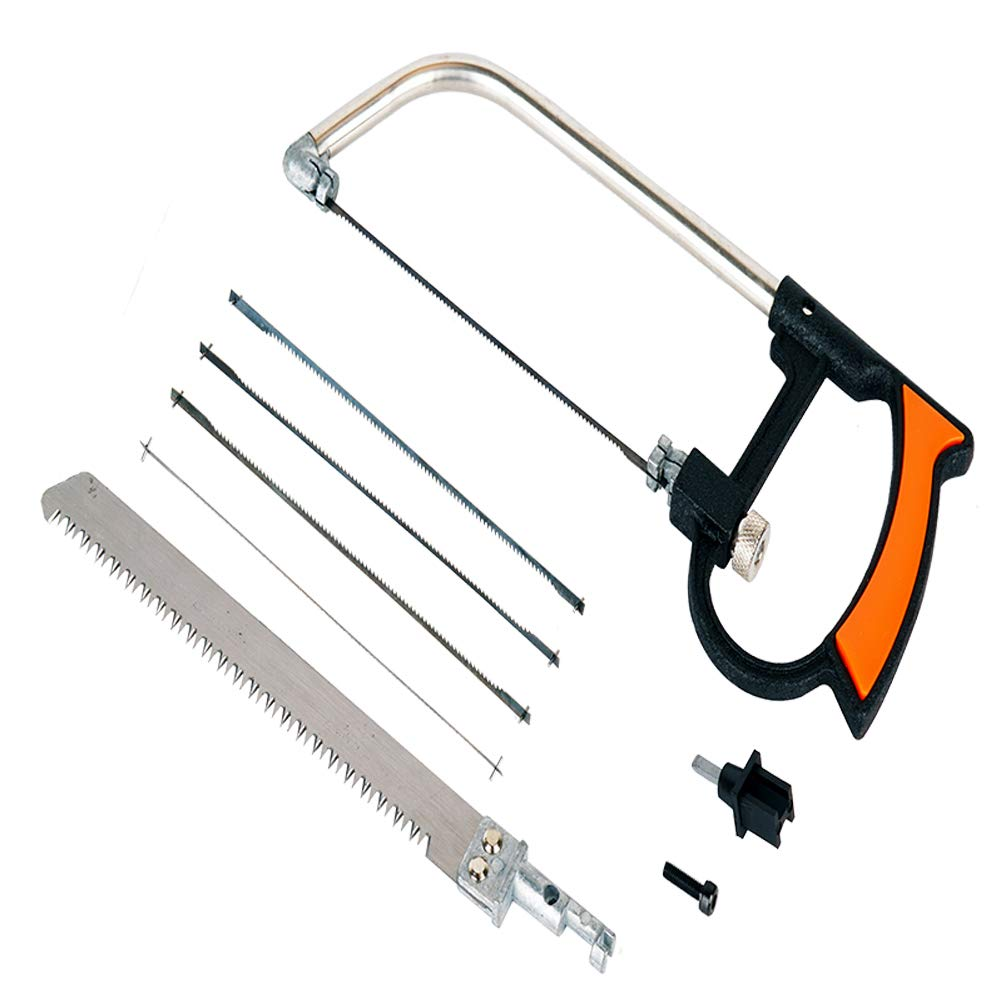 Mini hand saw,magic saw, 8pc Handsaws Set Universal Hand Saw Kit Toolbox Of Multi Blades Set Works As Hacksaw Coping Bow Jab Rip Pruning Chain Handsaws A Cutter Suitable To Cut Wood PVC Pipes Glass