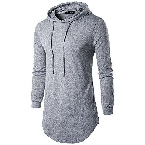 Keybur+Mens+Hipster+Hip+Hop+Longline+Classic+Pullover+Long+Sleeve+Hoodies+Fashion+Sweatshirt+%28XXL%2C+Grey%29