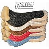 Roma Sheepskin Half Pad W/Full Rolled Edges