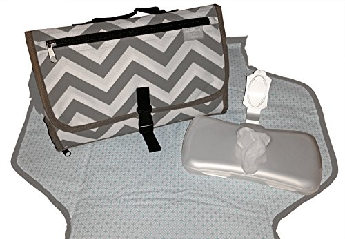BaeBae-Baby Changing Pad-Portable Diaper Changing Pad-Diaper Changing Station-Free Wipe Dispenser With Custom Pocket Holder
