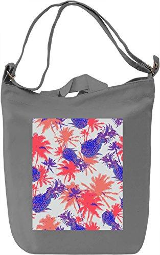 Colourful Tropical Pattern Borsa Giornaliera Canvas Canvas Day Bag| 100% Premium Cotton Canvas| DTG Printing|