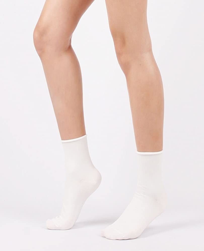 Women's Roll Top Ankle High Cotton Socks 5pair or 6pair