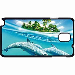 New Style Customized Back Cover Case For Samsung Galaxy Note 3 Hardshell Case, Back Cover Design Dolphin Personalized Unique Case For Samsung Note 3