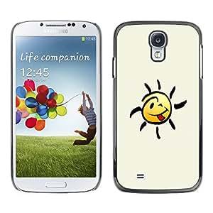 PC/Aluminum Funda Carcasa protectora para Samsung Galaxy S4 I9500 Happy Smiley Tongue / JUSTGO PHONE PROTECTOR