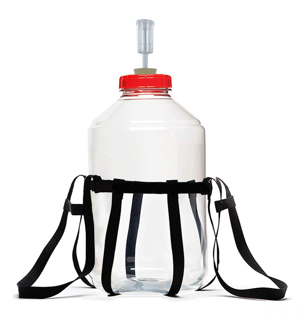 Fermonster Carboy Carrier, 6 Gal Fermonster Carboy, 10 Stopper, And Econolock Airlock