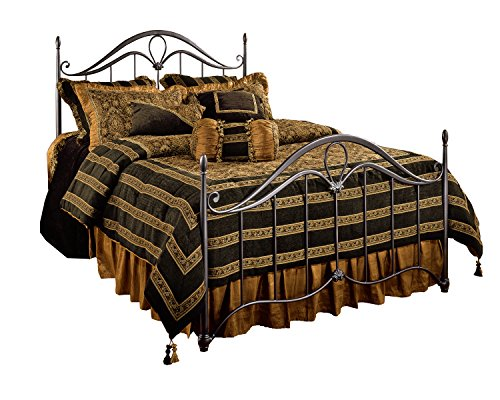 Hillsdale Furniture 1290BQR Kendall Bed Set with Rails, Queen, Bronze
