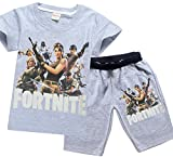 SERAPHY Boys T-Shirt and Shorts Suit Fortnite Clothing Boys Clothes 8383-A-160