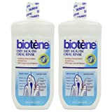 2 Pack Biotene Oral Rinse Mouthwash for Dry Mouth Symptoms 33.8 oz
