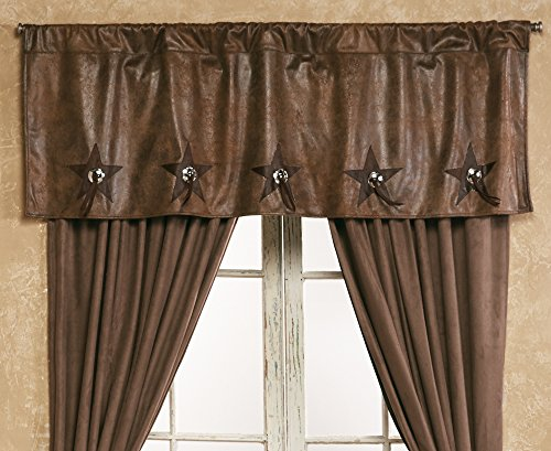 Black Forest Decor Wyoming Concho Star Rustic Valance - Western Window Decor