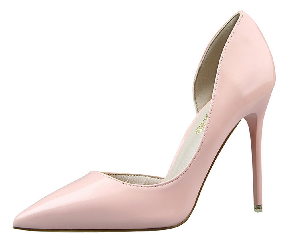 T&Mates Womens Dressy Versatile D'orsay Stiletto High Heels Closed Pointed Toe Pumps Shoes (7 B(M) US,Pink)