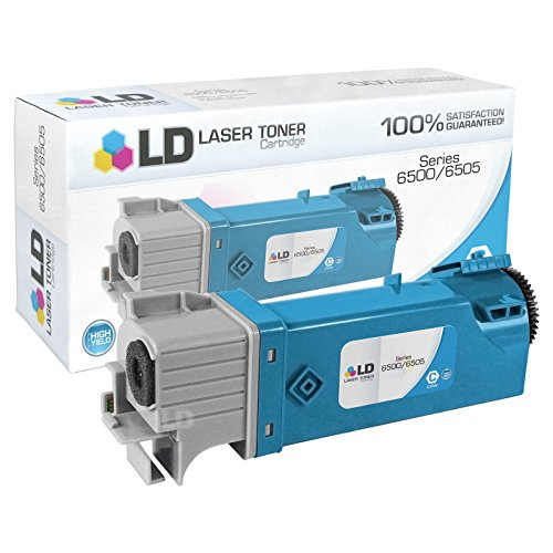 LD Compatible Replacement for Xerox 106R01594 Cyan Laser Toner Cartridge for use in Phaser 6500, 6500N, 6500DN and WorkCentre 6505 Printers