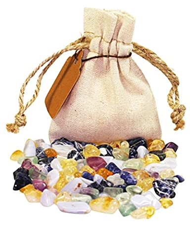 Self Confidence Power Pouch Healing Crystals Set with XS Tumbled Stones Natural Polished Gemstones (Self (Healing Gemma Di Cristallo)