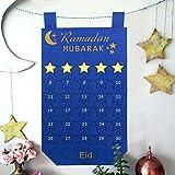 OurWarm Felt Ramadan Calendar Eid Mubarak Hanging