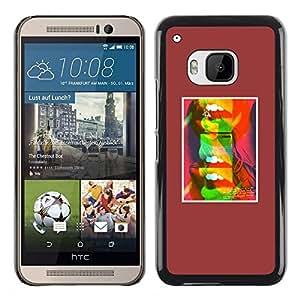 """Pulsar Snap-on Series Teléfono Carcasa Funda Case Caso para HTC One ( M9 ) , Labios abstractos del beso del arte pop minimalista"""""""