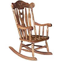 Buttonwood Rocker in Medium Oak Finish