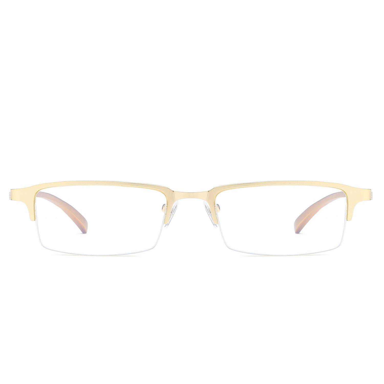 Prescription Ready Mens Eyeglasses Business Optical Glasses Frame Clear Lens