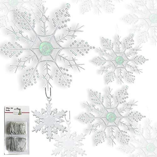 - BANBERRY DESIGNS Snowflake Christmas Ornaments - Set of 80 Snowflakes - 2