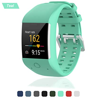 Bemodst Correa de Reloj para Polar M600, Silicona Repuesto Correa de Reloj Pulsera Reemplazo Strap para Polar M600 Smart Watch, Color Azul Verdoso