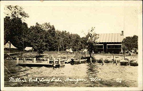 Miller Park Wisconsin - Miller's Park, Long Lake Haugen, Wisconsin Original Vintage Postcard