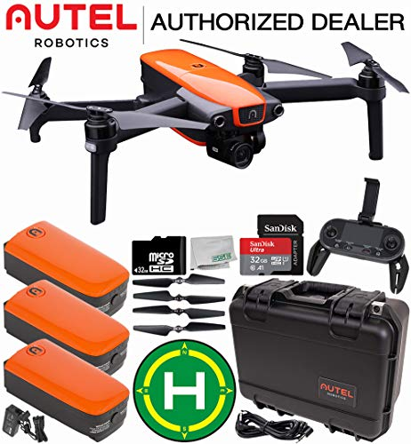 Autel Robotics EVO Foldable Quadcopter with 3-Axis Gimbal Rugged Kit Landing Pad Starters Bundle