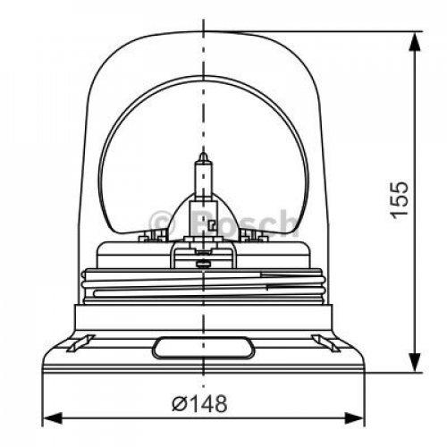 Amazon.com: BOSCH Rotating Beacon Revolving Light Amber 24V ... on
