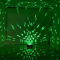 ANNT® 2PACKS LED RGB Crystal Magic Ball Effect light DMX Disco DJ Stage Light for KTV Club Pub Bar Wedding Show Voice-activated