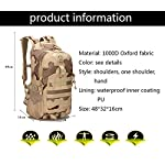 XRPXRP 35L Tactical Attack Backpack Waterproof Military Molle Backpack Military Backpack Hiking Camping Hiking Hunting 9