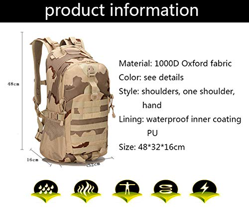 XRPXRP 35L Tactical Attack Backpack Waterproof Military Molle Backpack Military Backpack Hiking Camping Hiking Hunting 4